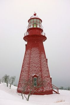 Beautiful Red Lighthouse