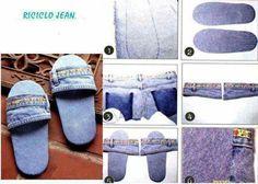 los zapatos de los pantalones vaqueros