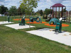 Great adult playground next to the kids' playground! Cherry Ridge Park, Pelham #InclusivePlay