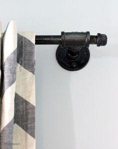 Hi Sugarplum | Galvanized Pipe Curtain Rod