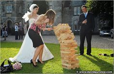 Fun Wedding Lawn Games - and the fact that the picture has a huge version of jenga...