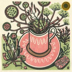Wood engraving by Angie Lewin.