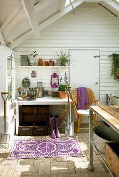 beautiful colour palette + Danish garden shed | Frederikke Heiberg for Bo Bedre