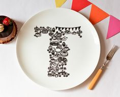 T for Tea Time plate by justnoey, via Flickr