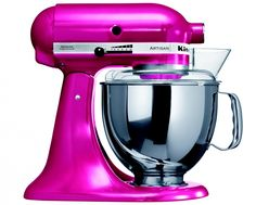 The now iconic KitchenAid Artisan stand mixer keeps on appearing in new and quite alluring colors. KitchenAid UK latest offering is a beautiful Cranberry mixer. Kitchenaid Artisan Stand Mixer, Kitchenaid Artisan Cook Processor, Kitchen Aid Artisan, Kitchen Aid Mixer, Artisan Food, Kitchen Aide, Kitchen Dining, Kitchen Decor, Furniture