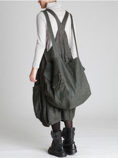 THICK LINEN OVERALLS - JACKETS, JUMPSUITS, DRESSES, TROUSERS, SKIRTS, JERSEY, KNITWEAR, ACCESORIES - Woman -