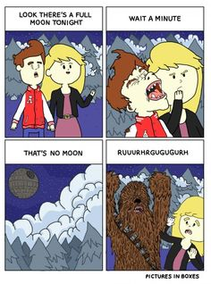 Funny pictures about Full Moon Tonight. Oh, and cool pics about Full Moon Tonight. Also, Full Moon Tonight photos. Starwars, Dark Vader, Full Moon Tonight, Star Wars Humor, Love Stars, Geek Out, Funny Comics, Funny Cartoons, Heavy Metal