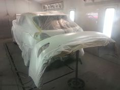 Paint job on a Vancouver, Collision Repair, Body, Lounge, Couch, Paint, Glass, Furniture, Home Decor