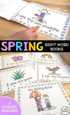 This Spring Book is great for guided reading groups! It comes with 3 leveled readers, comprehension sheets, sight word practice, and reading strategies.