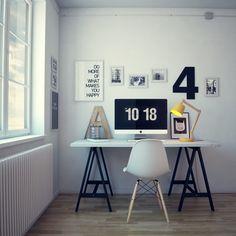 Workplace by Denis Khramov, via Behance