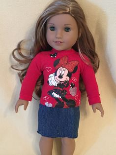Up-cycled Two Piece Outfit for American Girl Dolls or any 18 inch doll by ItIsSewYou on Etsy