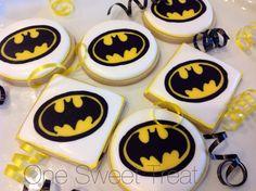 Batman cookies by OneSweetTreat.