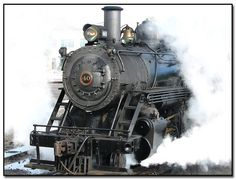 pictures of steam engines in the mist