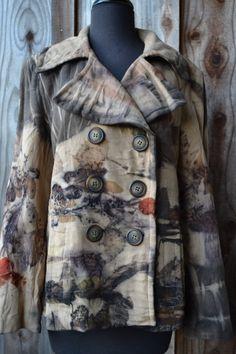 eco printed upcycled wool coat by  www.tashwesp.com