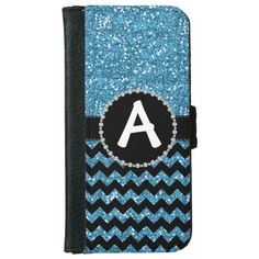 Glitter Blue Chevron, Diamond Ribbon Flap