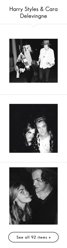 """Harry Styles & Cara Delevingne"" by thenameisandrea ❤ liked on Polyvore featuring cararry, manip, one direction, cara delevingne, harry styles, pictures, harry, cara, couple and manips"