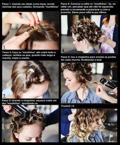 Como fazer cachos usando a chapinha #tutorial #passoapasso #cabelo #hair #beleza