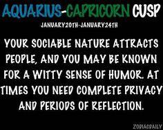 Aquarius - Capricorn Cusp