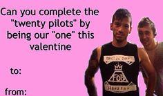 Twent one pilots Tyler Joseph Josh dun Skeleton clique Stay alive stay street valentine cards