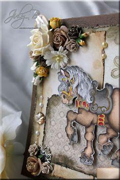princess horse Magnolia stamps card