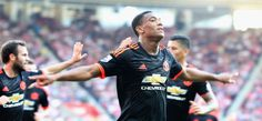 SOUTHAMPTON, ENGLAND - SEPTEMBER 20:  Anthony Martial of Manchester United celebrates scoring their second goal during the Barclays Premier League match between Southampton and Manchester United on September 20, 2015 in Southampton, United Kingdom.  (Photo by Matthew Peters/Man Utd via Getty Images)