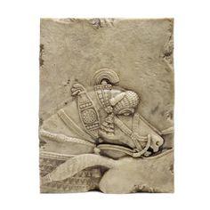 Assyrian horse head sculpture