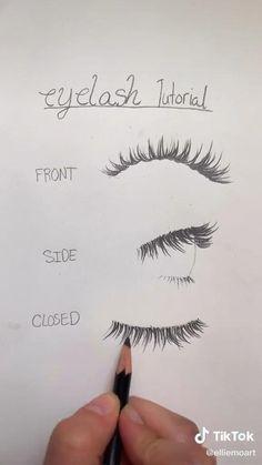 Art Drawings Sketches Simple, Pencil Art Drawings, Realistic Drawings, Easy Drawings, Eye Drawing Tutorials, Drawing Techniques, Art Tutorials, Eye Art, Art Sketchbook