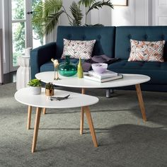 Olida Double White Coffee Table