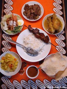 The Dutch Table; rijsttafel