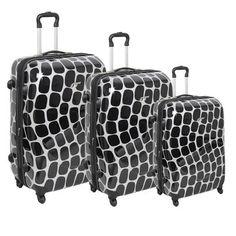Black & White Luggage Set.