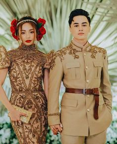 How These Filipino Designers Reimagined Modern Filipiniana Modern Filipiniana Gown, Filipiniana Wedding Theme, Wedding Gowns, Wedding Ceremony, Filipino Art, Filipino Culture, Filipino Wedding, Modest Fashion, Fashion Outfits