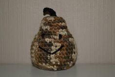 Crochet camouflage brown pear / Heklet kamuflasje pære i brunt
