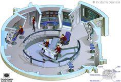 #startrek #bridge #starships #starfleet #ussexcelsior #ncc2000 #productiondesign #cutawayview