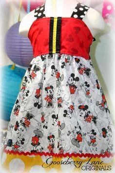 Mickey Mouse Dress for Disney World! Disney Diy, Disney Cruise, Disney Trips, Disney Magic, Disney Clothes, Disney Dresses, Disney Outfits, Mickey Mouse Dress, Mickey And Minnie Love