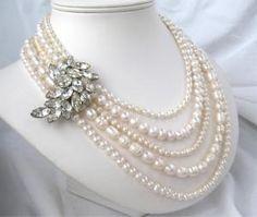 Lindos collares de perlas para boda  2
