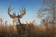 Big City Bucks - whitetail deer painting by Larry Zach Wildlife Paintings, Wildlife Art, Deer Paintings, Original Paintings, Hunting Art, Deer Hunting, Whitetail Hunting, Hunting Stuff, Wild Life