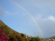Rainbow over Tortola, BVI
