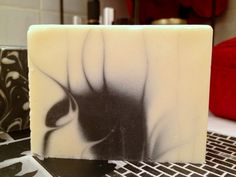 Charcoal Peppermint Soap. Handmade soap, all natural soap, cold process soap, vegan soap, palm oil free soap by http://superfat.co/