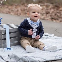 Items similar to NEW Baby Boy Cardigan and Bow Tie Set. Coming Home Outfit Christmas Holiday on Etsy Tie Onesie, Onesies, Baby Boy Cardigan, 1st Birthday Outfits, New Baby Boys, Coming Home Outfit, Tie Set, 1st Birthdays, Trendy Baby