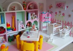 miniature dollhouse in the dollhouse - playroom1