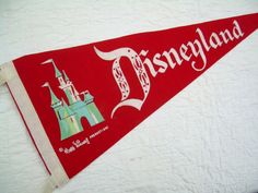 Disney Vintage Souvenir Pennant by lesliejanson on Etsy, $9.00
