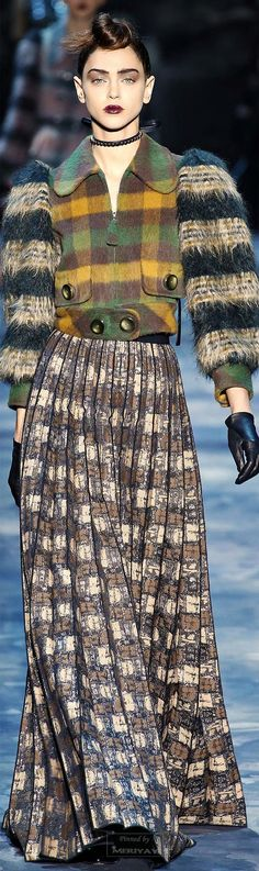 Marc Jacobs.Fall 2015. Love the idea of a cropped plaid moto inspired jacket.