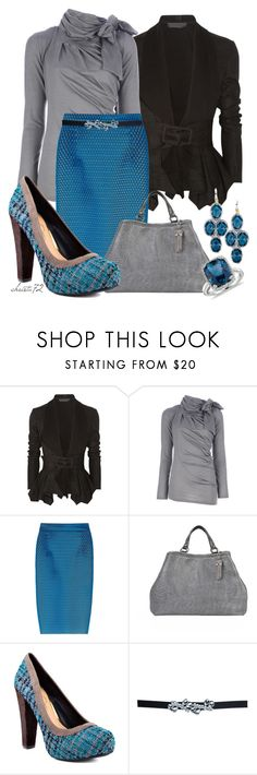 """Tweed Shoes"" by christa72 ❤ liked on Polyvore featuring Donna Karan, TIBI, Jessica Simpson and Blue Nile"