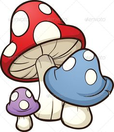 Cartoon Mushrooms  #GraphicRiver