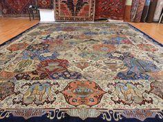 Super Antique Persian Hunting Tree of Life GHOM QOM QUM ... only $7000... a girl can dream
