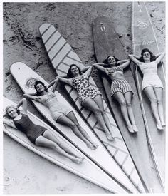 Surf sirens, Manly beach, New South Wales, ca.1940