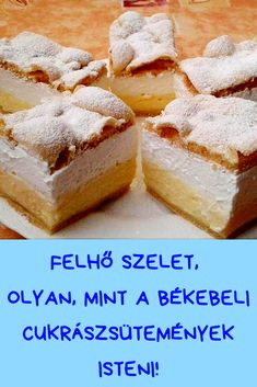 Hungarian Desserts, Hungarian Cake, Hungarian Recipes, Flan, Smoothie Fruit, Cake Bars, Bon Appetit, New Recipes, Delish