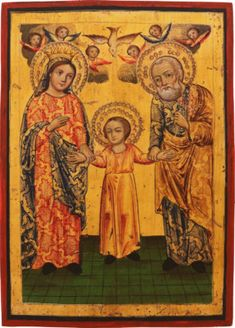 105-I: ICONS. PART 1 – Hargesheimer Kunstauktionen Watercolor Books, Money Laundering, Holy Family, Old Master, Wood Paneling, Order Prints, Sculptures, Santa, Painting