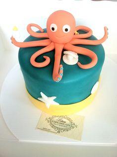 Fondant Octopus Cake Topper Birthday Week, Baby Birthday, Birthday Party Themes, Birthday Ideas, Octopus Cake, Underwater Birthday, Sea Cakes, Cupcake Cakes, Cupcakes