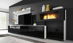Groupon Goods Global GmbH: TV Entertainment Center with Built-In ...